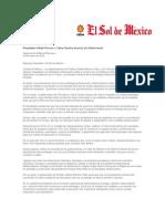 29-01-2014 El Sol de México - Respaldan Rafael Moreno y César Duarte anuncio de Gobernación