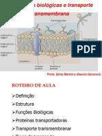 Membranas Biologicas e Transporte Transmembrana SILVIA E GLAUCIO (1)
