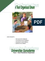 Artikel Teori Organisasi Umum