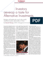 New Statesman Article Dec Chinese Investors develop a taste for Alternative Investments