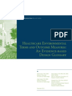 Healthcare Terms and Outcome Measures an Evidence Based Design Glossary