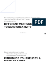 2. Different Methods Toward Creativity