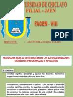 Programa Para La Conciliacion de Las Cuentas Bancarias