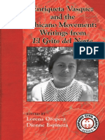 Enriqueta Velasquez and the Chicano Movement Writings from El Grito del Norte edited by Lorena Oropeza and Dionne Espinoza