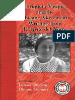 Enriqueta Velasquez and the Chicano Movement Writings from El Grito del Norte edited by Lorena Oropeza and Dionne Espinoza