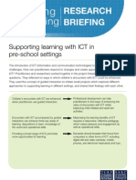 Supporting Learning With ICT in Pre-school Settings