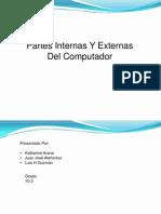 Partes Internasy Externas Del Computadordiapositivas