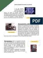 clasificación de computadoras y dispositivos de entrada