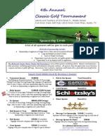 2014 golf tournament sponsorship flyer