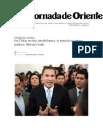 28-01-2014 La Jornada de Oriente - En Chilac no hay autodefensas, se trata de un grupo político, Moreno Valle
