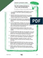The Ten Commandments for Job Interviews