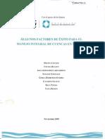 Factores Exito Cuencas Fundación Gonzalo Rio Arronte