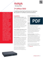 Avaya IP Office 500 Fact Sheet