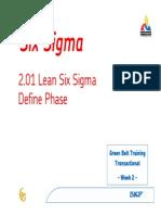 TGB2.01 Lean Six Sigma Define Phase Rev RK 20060224