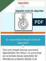 Estimarea Timpului Cerut de Algoritm