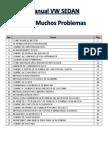 Manual VW SEDAN Para Muchos Problemas