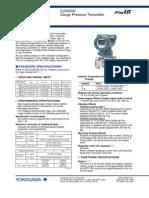 Gauge Pressure Transmitter Data Sheet EJA