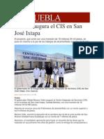 12-01-2014 Milenio.com - RMV inaugura el CIS en San José Ixtapa
