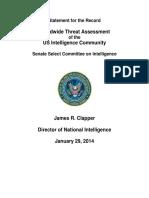 """ODNI's """"Worldwide Threat Assessment"""" 2014"""