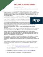 4-Cuenta Bancaria Offshore