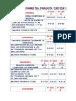 Fechas exá. 2ª eva. curso 2013-14