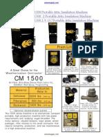 Cool Machines CM 1500 Insulation Blowing Machine Datasheet