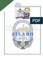 SILABO ANALISIS Y DISEÑO SISTEMAS 2014-0