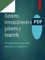 Gobierno, Innovaciones en El Gobierno y Desarrollo Matt Andrews