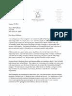 Sen. Marty Golden Letter to Mayor de Blasio Re
