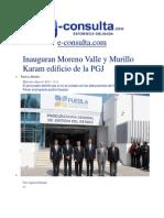 08-01-2014 E-consulta.com - Inauguran Moreno Valle y Murillo Karam Edificio de La PGJ