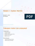 Modul 2 Aljabar Matriks