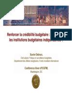 Renforcer la crédibilité budgétaire  un rôle pour les institutions budgétaires indépendantes Xavier Debrun