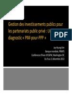 Gestion des investissements publics pour les partenariats public-privé PIM for PPP JKIM