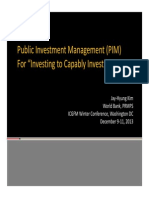 Public Investment Management PIM Lessons JKIM