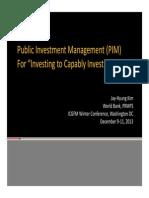 Public Investment Management PIM Lessons JKIM