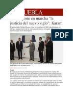 08-01-2014 Milenio.com - Puebla Pone en Marcha La Justicia Del Nuevo Siglo, Karam