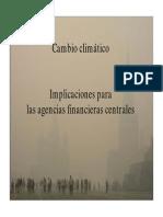 Cambio climático Implicaciones para las agencias financieras centrales Adrian Fozzard