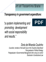 Transparency in Government Expenditure Doris Coutinho