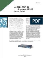 Cisco3524 PWR XL DataSheet