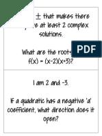 Quadratic Who Am I?
