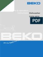 Beko Dsfn6830 Manual