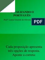 Atualizando o Português- Teste com 10 proposições