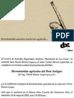 20052d06 Sobre El Libro Herramientas Agricolas. Cusco