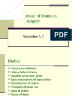 Use and Abuse of Drains in Surgery1