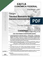 Cespe 2010 Caixa Tecnico Bancario Administrativo Prova