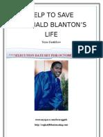 Reginald Blanton,Texas Deathrow Information Packet