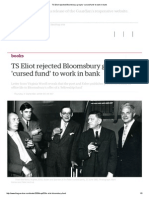 ts eliot rejected bloomsbury groups cursed fund to work in bank