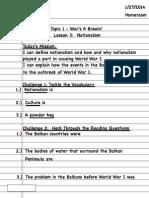 Student Page 13 Lesson 3 Nationalism Portfolio Part 1 of 3
