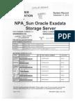 City of Oakland Fire 1-EOC-DAC Sun Oracle Exadata Storage Server Docs