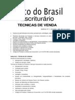 Tecnicas de Venda (39) Banco Do Brasil